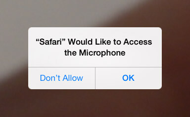 iPad/iPhone allow microphone access